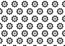 Black and white flower pattern. Made in Illustrator Royalty Free Stock Photo