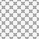 Black and White Flower Repeat Pattern Background Stock Photo