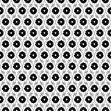 Black and White Flower Repeat Pattern Background Royalty Free Stock Photography