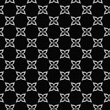 Black and White Flower Symbol Tile Pattern Repeat Background Stock Photography