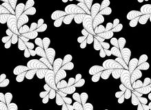 Black and white flower zentangle line seamless pattern vector il Stock Photography