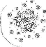 Black and white flowers. Vector format Royalty Free Stock Image