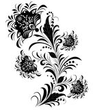 Black and white flowers isolated on white. Royalty Free Stock Images