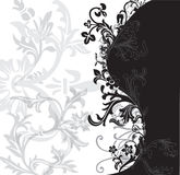 Black and White Flowery Patter Stock Images