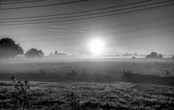 Black And White, Fog, Atmosphere, Mist Stock Photography