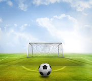 Black and white football Stock Photography