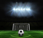 Black and white football Royalty Free Stock Photography