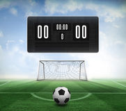 Black and white football and scoreboard Royalty Free Stock Photo