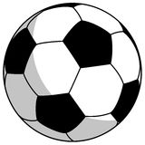 Black-white football - simple vector illustration Stock Photos