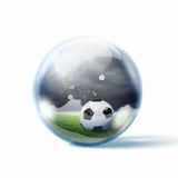 Black and white soccer ball Royalty Free Stock Photography