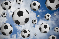 Black and white footballs Stock Image