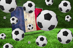 Black and white footballs Royalty Free Stock Photography