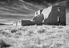 Black and white, Fort Churchill, Nevada Royalty Free Stock Photography