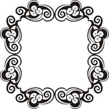 Black and white frame. Abstract artistic frame with ornaments Stock Image