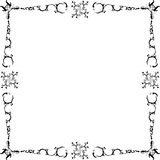 Black and white frame Royalty Free Stock Photos