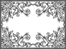 Black and white frame. Black and white vintage frame, isolated Stock Photos