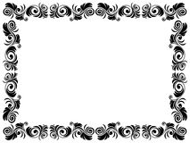 Black and white frame of blank with floral element. S, hand drawing vector artwork Royalty Free Stock Images