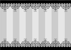 Black white frame border. Vintage swirl Royalty Free Stock Photo