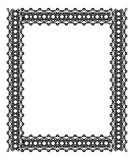 Black and white frame in celtic style Royalty Free Stock Photos