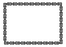 Black and white frame in celtic style Royalty Free Stock Images