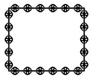 Black and white frame in celtic style Royalty Free Stock Photo