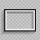 Black and white frame transparent Stock Images