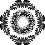 Black and white frame Stock Photography