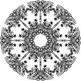 Black and white frame Stock Images