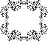 Black and white frame Royalty Free Stock Photos