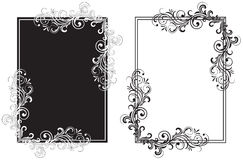 Black and white frames. Decorative template grunge background, illustration Stock Photos