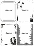 Black and white frames Stock Images