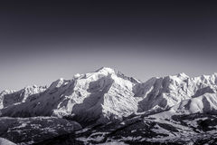 Black and white french alps Royalty Free Stock Image