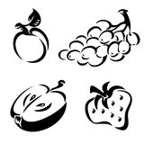 Black and white fruit Stock Photos
