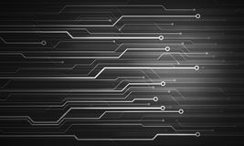 Black white futuristic conceptual image microchip background Royalty Free Stock Photo