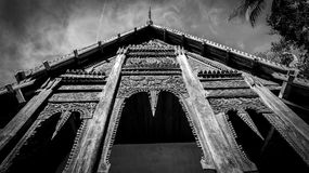 Black and white gable, triangular end of a roof Stock Photography