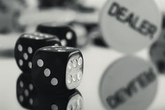 Black and white gamble Royalty Free Stock Photography