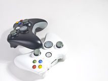 Black and white game controller. Stack Stock Images