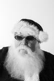 Black and white gangsta Santa. Very cool hip hop gangster looking santa in black and white Stock Image
