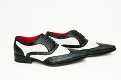 Black and white gangster shoes Royalty Free Stock Photo