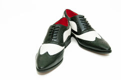 Black and white gangster shoes Stock Images