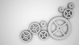 Black and white gears Stock Photos