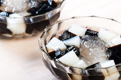 Black and white gelatine Stock Photo