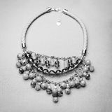 Black and White Gem Necklace Stock Photography
