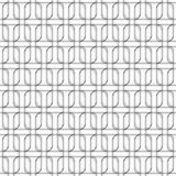 Black and white geomatric seamless pattern with line and round c Stock Image