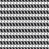 Black and white geometric abstract background, cloth seamless pattern, goose foot. Pied de poule. Vector. Illustration Royalty Free Stock Photo