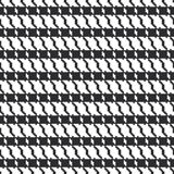 Black and white geometric abstract background, cloth seamless pattern, goose foot. Pied de poule. Vector. Illustration vector illustration