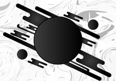 Black and White geometric abstract background with copy space. Vector illustration.  Stock Illustration