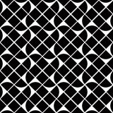 Black and white geometric abstract seamless pattern, vector cont Royalty Free Stock Image