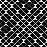 Black and white geometric abstract seamless pattern, vector cont Stock Images