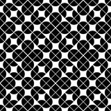 Black and white geometric abstract seamless pattern, vector cont Stock Photo